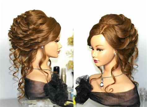 elegante lockige hochzeits frisuren fuer mittleres haar