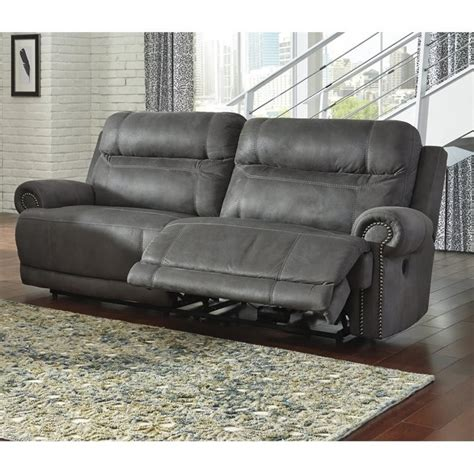 overly power reclining sofa ashley austere 2 seat faux leather reclining power sofa in