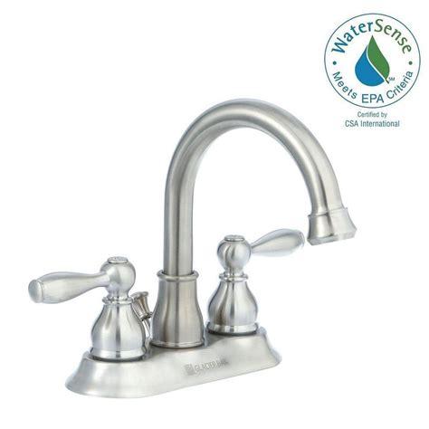glacier bay bathroom sink handles glacier bay mandouri 4 in centerset 2 handle high arc