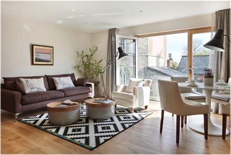 Contemporary Kitchen Design Ideas Tips - splendid apartment living room interior design ideas with marvelous black white rug idea also