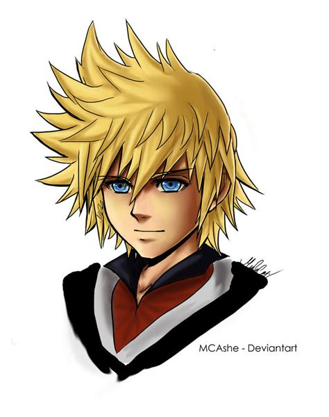 Roxas Fan Art Kingdom Hearts By Mcashe On Deviantart