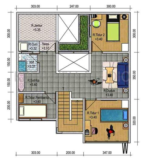 denah rumah sederhana  kamar tidur terbaik fimell