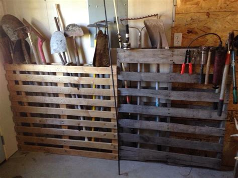 pallet storage idea  long handled tool