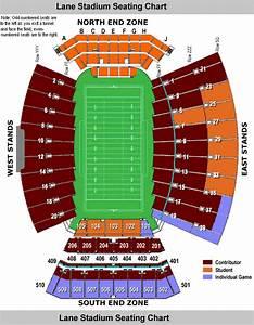 Techsideline Com Lane Stadium Seating Chart