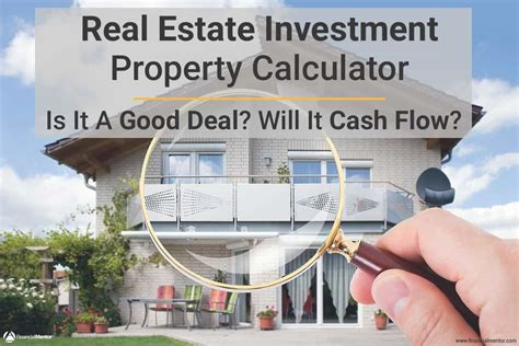 real estate calculator  analyzing investment property