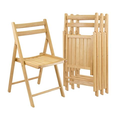 chaises pliantes en bois amazon com winsome wood folding chairs finish set of 4 chairs