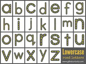best photos of road letters printables highway abc cards