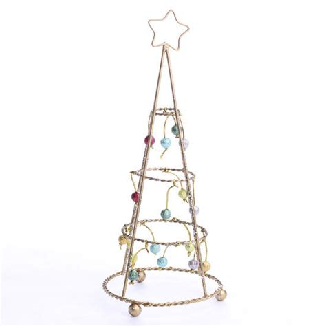 retro gold wire christmas tree table decor christmas