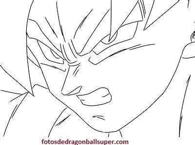 Imprimir imagenes para dibujar faciles de goku y para