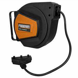 14 Gauge 50 U2032 Retractable Extension Cord Reel  U2013 Freeman Tools