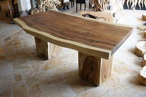 Tisch aus einem baumstamm der tischonkel for Tisch baumstamm