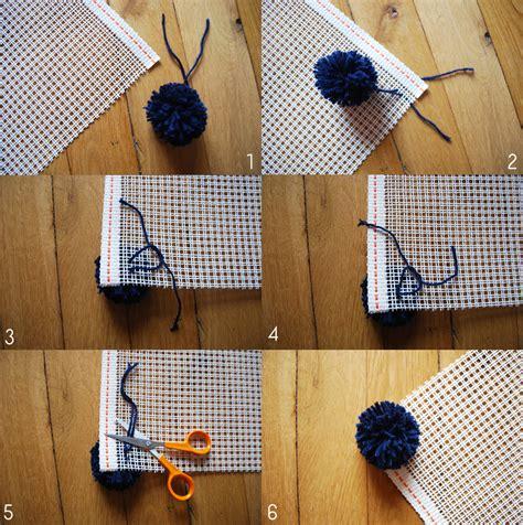 diy faire tapis de pompons
