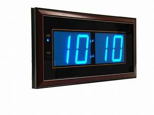 Digital led wall clocks battery operated decor for Led digital wall clock battery operated