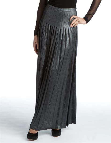 Maxi Chatarina Casally lyst catherine malandrino metallic pleated maxi skirt in