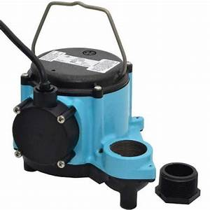 Manual Sump Pump  25 U0026 39  Cord  4  10hp  115v