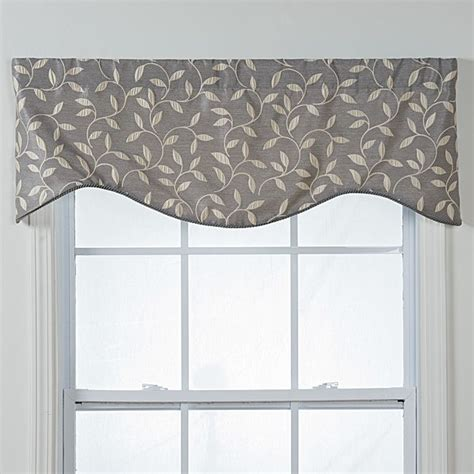 Silver Gray Valances by Kensington Shaped Grey Vines Window Valance Great Deals