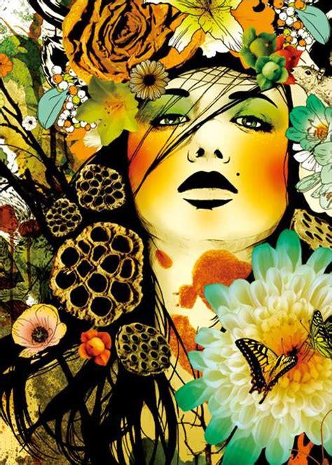 vividly alluring collages marumiyan