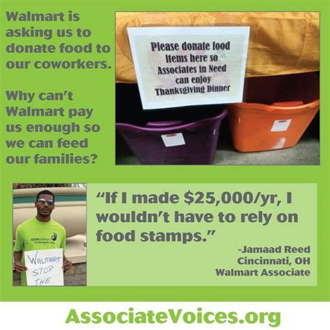 walmart employee benefits phone number a food drive for employees working on thanksgiving