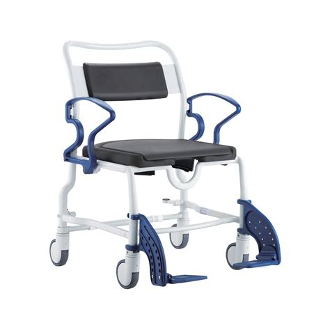 rebotec dallas wide bariatric shower commode chair