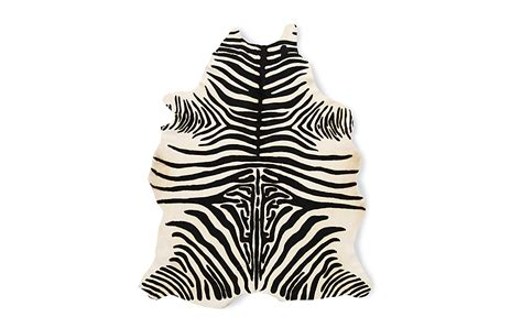 Cowhide Rug Zebra by Edelman 174 Leather Zebra Cowhide Rug Design Within Reach