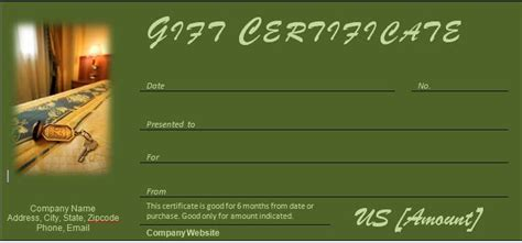 gift certificates templates   occasion
