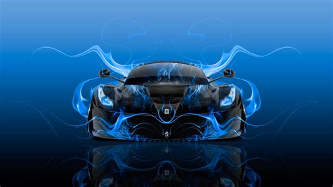 ferrari laferrari front super fire flame abstract car