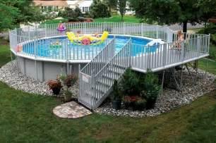 ground pool decorating ideas