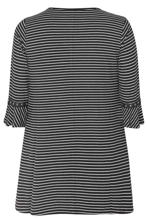date post jenny template responsive black stripe lattice front top with eyelet flute sleeves