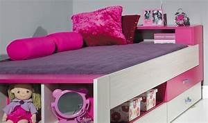 lit enfant et adolescent rose avec rangements sous le lit With chambre bébé design avec livraison fleurs pas cher livraison gratuite