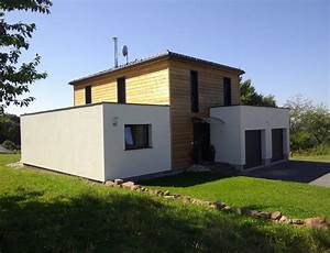 Maison bois cubique a toit plat nos maisons ossatures bois for Plan de maison cubique 3 maison bois cubique 224 toit plat nos maisons ossatures bois