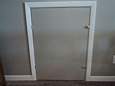 diy knee wall access door   youve
