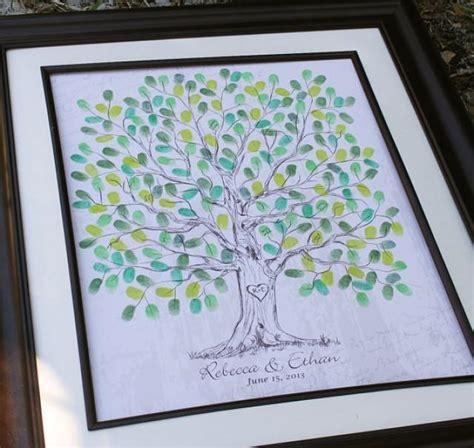 fingerprint wedding tree thumbprint wedding guest book tree unique guest book alternative