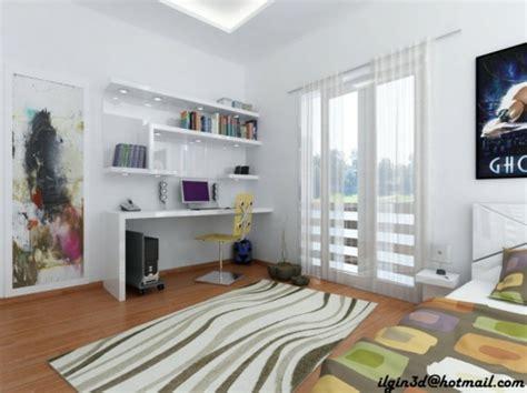 chambre spacieuse aménager un coin bureau dans la chambre ado 30 idées