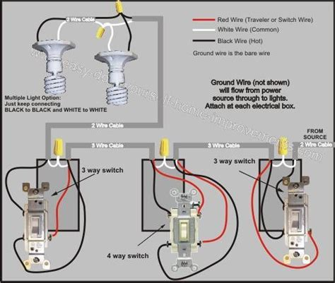 1 3 Way Light Switch Wiring Diagram by 4 Way Switch Wiring Diagram To Do Home Electrical