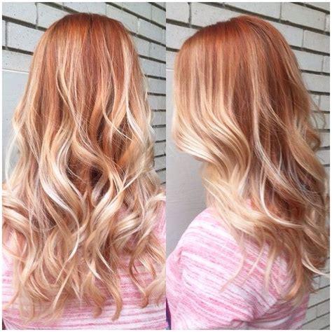 balayage rot blond die besten 20 kupferblond ideen auf kupfer