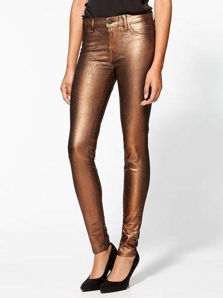 brand coated sparkle  rise super skinny jeans  gold