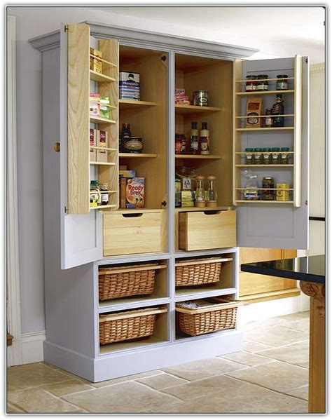 Freestanding Pantry Cupboard Ikea by Stand Alone Pantry Cabinet For Kitchen Home Design Ideas