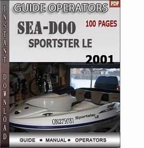 Seadoo Sportster Le 2001 Operators Guide Manual Download