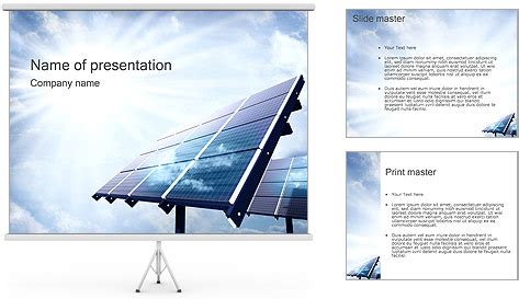 solar panels powerpoint template backgrounds id