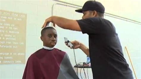 firefighters give  haircuts   income kids youtube