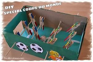 Fabriquer Un Personnage En Carton : diy sp cial coupe du monde fabriquer un mini baby foot ~ Zukunftsfamilie.com Idées de Décoration