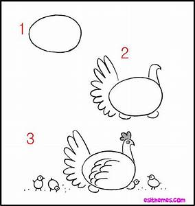 Draw Hens And Draw Animals On Pinterest