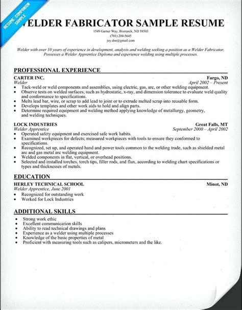 welder fabricator resume sample ipasphoto