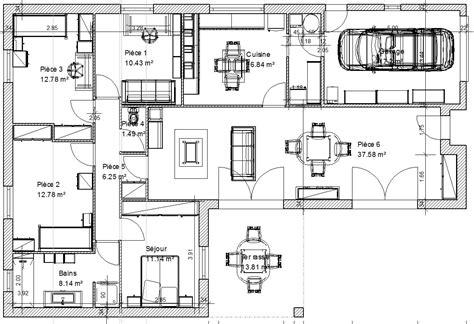 plan de maison 3 chambres plan de maison 3 chambres salon