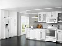 kitchen cabinets white White Kitchen Cabinets with White Appliances - Home ...