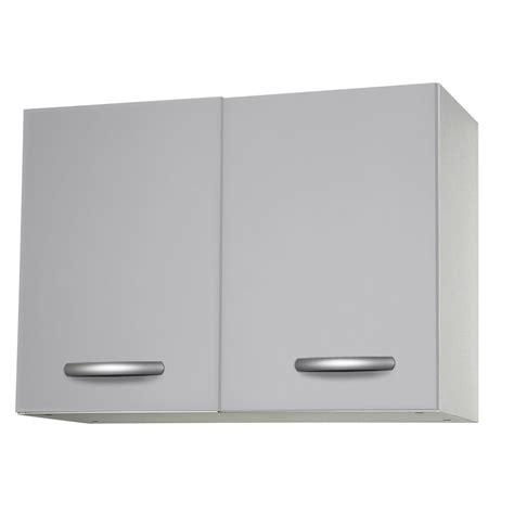 pose meuble haut cuisine meuble de cuisine haut 2 portes gris aluminium h57 9x