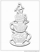 Coloring Coffee Cup Pages Tea Stack Cups Colouring Sheets Overflows Teacups Printable Getcolorings Drink Lobby Hobby sketch template