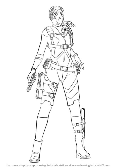 Learn How to Draw Jill Valentine from Resident Evil