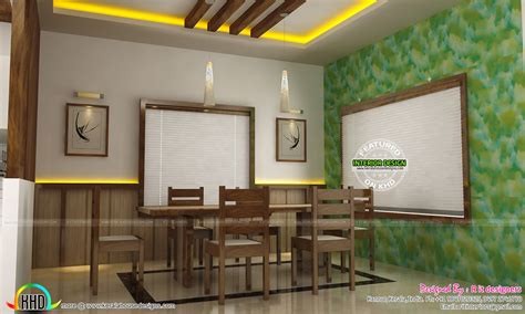 indian dining room ideas dining kitchen living room interior designs kerala Simple