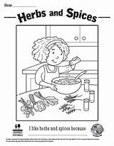 Herbs Spices Sheets Coloring Foodhero sketch template